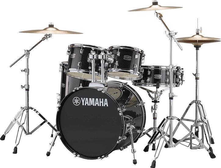 """Bateria Yamaha Rydeen/Paiste (20"""") Studio Black Glitter"""