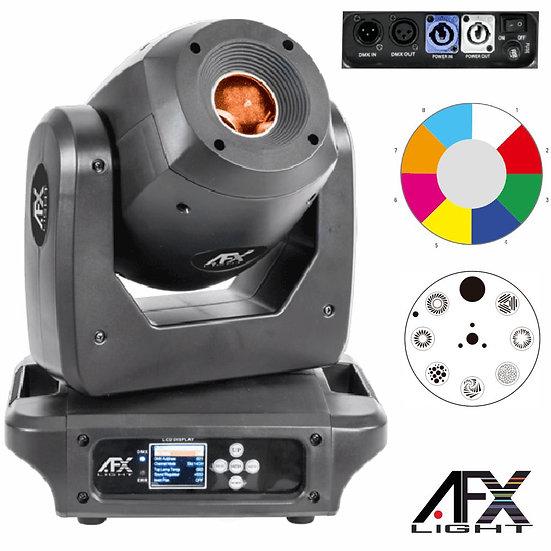 Moving Head Spot 1 LED 100W Preto 2 Rodas Gobo DMX AFXLIGHT SPOT100-LED