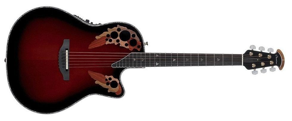 Guitarra Electro-Acústica Custom Elite Lx Usa  Ovation