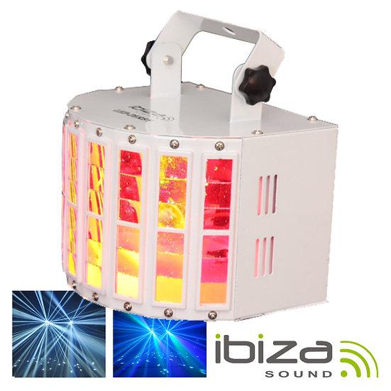 Projetor Luz C/ 2 LEDS RGBW 10W DMX Mic 30W IBIZA LED-DERBY