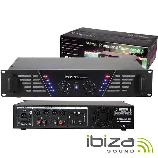 """Amplificador Áudio 19"""" 2x240W IBIZA  AMP300(I)"""
