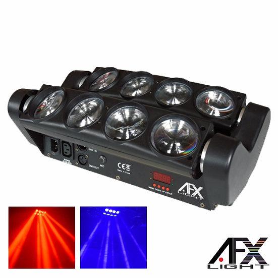 Projetor Luz C/ 8 LEDS 8W CREE RGBAW 2 Barras DMX AFXLIGHT 8BEAM-FX