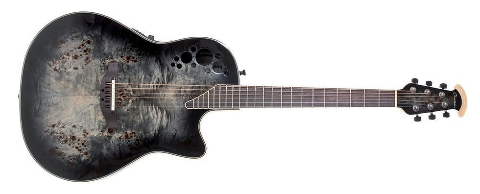 Guitarra Electro-Acústica Exotic Elite Deep Bowl Cutaway  Ovation