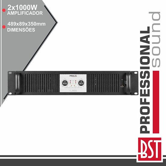 Amplificador Áudio Pro 2x1000W Smps 2/4/8 Ohms BST XL1500