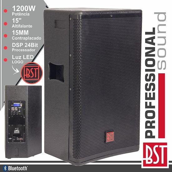 """Coluna Amplificada Pro 15"""" 1200W 4 Modos BT BSTFIRST-SA15DSP2"""