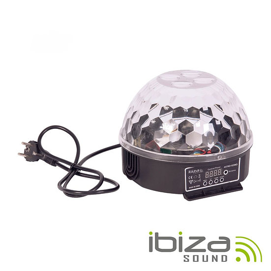 Projetor Luz C/ 4 LEDS Astro E 4 LEDS Gobo RGBW DMX IBIZA ASTRO-GOBO