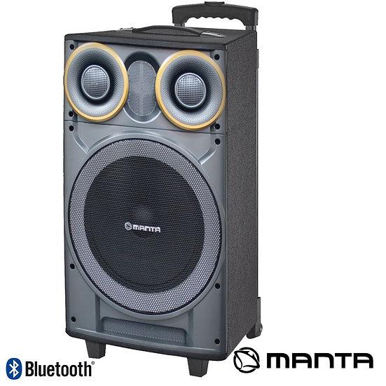 """Coluna Amplificada 12"""" USB/BT/Bat LED MANTASPK5003"""