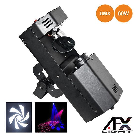 Projetor Luz C/ 1 LED Branco 60W 2 Discos Gobo DMX AFXLIGHT LEDSCAN60