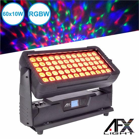 Projetor Luz C/ 60 LEDS 10W RGBW DMX AFXLIGHT CITYCOLOR400