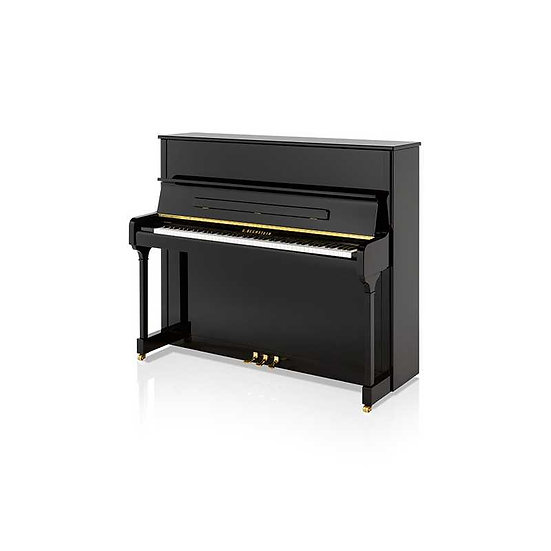 Bechstein Piano Acustico Vertical A 124 Impossant Negro Poliester