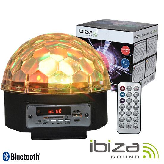 Projetor Luz C/ 6 LEDS RGB 3W Comando BT/SD IBIZA LL082LED-BT