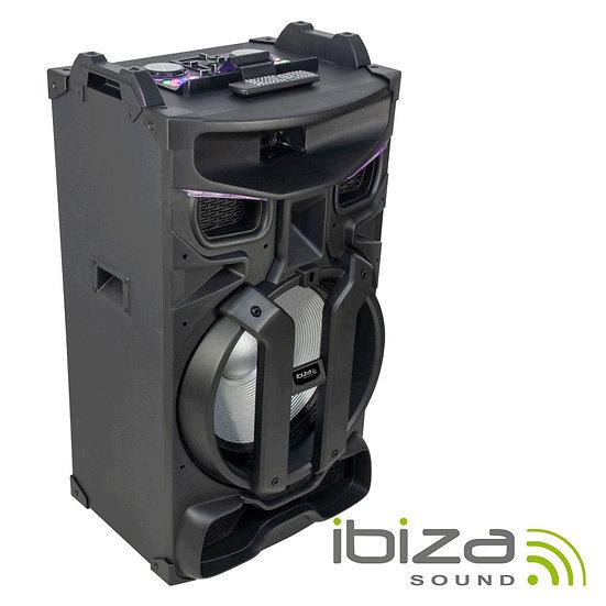 """Coluna Amplificada 18"""" 900W C/ Mesa Mist. USB/BT/SD/FM IBIZA STANDUP18-MAX"""