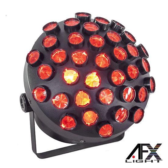 Projetor Luz C/ 27 LEDS RGB 1.5W Multi-Line DMX AFXLIGHT MUSHROOM-2.0