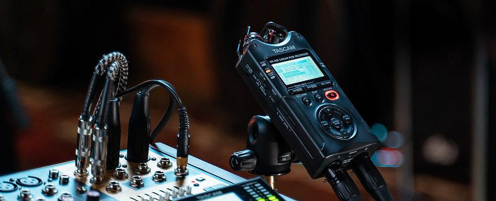 Gravação Para Camara Tascam Dr-40X