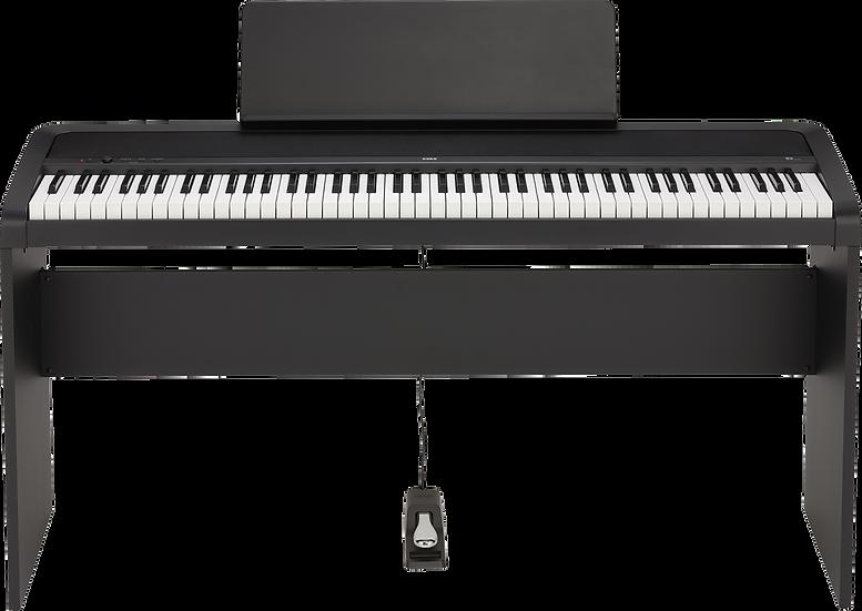 Piano Digital Korg B2 Bk Com Colunas Suporte Opcional Stb1