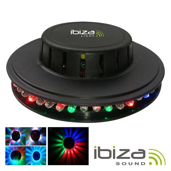 Projetor Luz C/ 48 LEDS RGB Ufo Mic 10W Preto IBIZA LED UFO-BL