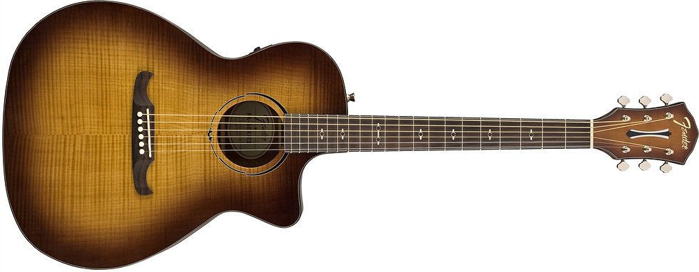 Guitarra Elec-Acústica Fender Fa-345Ce 3-Tone Tea Burst