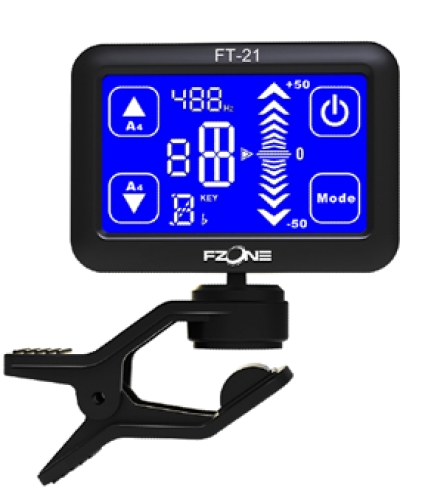 Afinador Digital C/ Ecrã Tátil Fzone - Ft-21