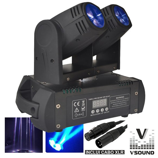 Moving Head Duplo 2 LEDS 12W Duplo DMX Mic VSOUND LEDMV210RGBW