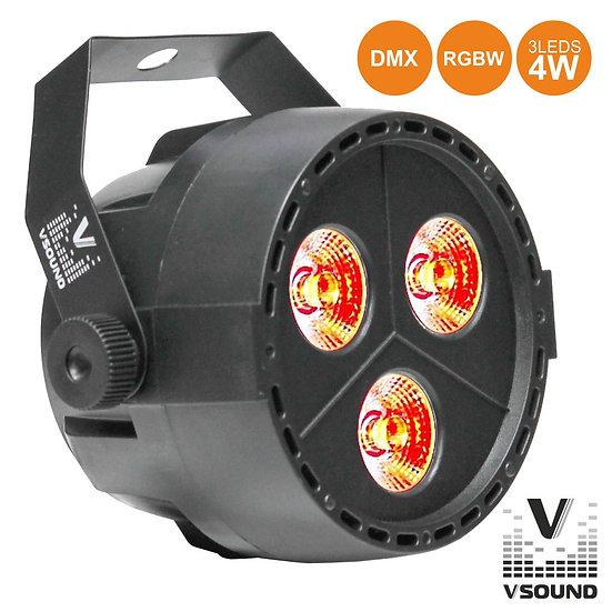 Projetor Luz C/ 3 LEDS 4W RGBW DMX VSOUND VSPROJPL34A