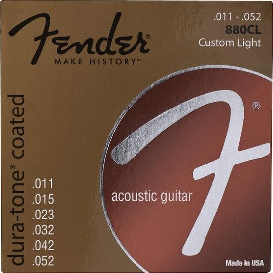 J. Cordas Guit. Acústica Fender 11-52 Coated 880Cl