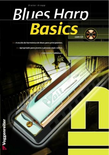 Livro Blues Harp Basics (Pt) - Oferta Cd
