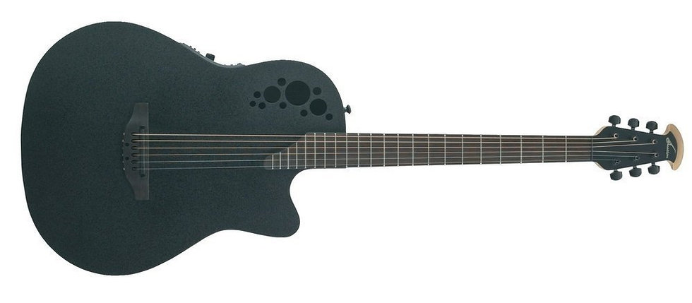 Guitarra Electro-Acústica Elite Tx Mid Cutaway D-Scale  Ovation