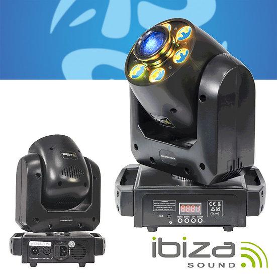 Moving Head Mini 6 LEDS 12W DMX IBIZA PLUTON30-WASH