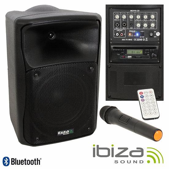"Coluna Amplificada 8"" 180W USB/BT/FM Suporte/Micro VSOUND VSSE8CT-PACK"
