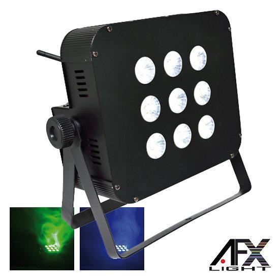 Projetor Luz C/ 9 LEDS 3W RGB Bateria 2.4g DMX AFXLIGHT PARLED-W3