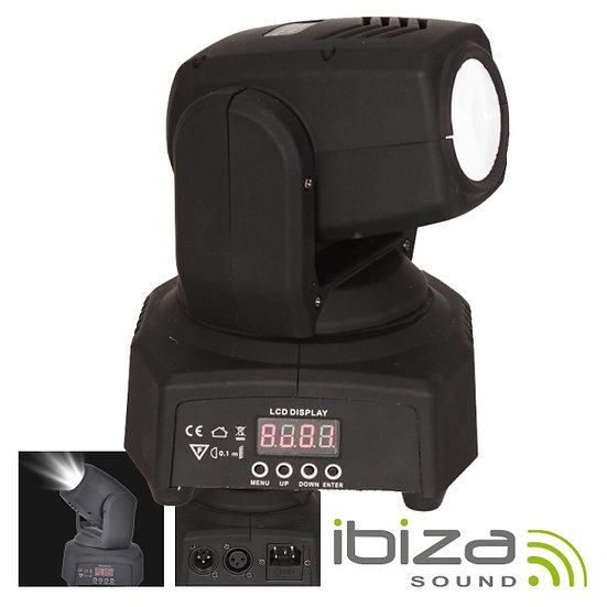 Moving Head Mini 1 LED CREE Branco 10W Foco DMX Mic IBIZA LMH250WH-MINI