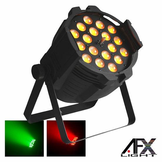 Projetor Luz C/ 18 LEDS 15W RGBAW Zoom DMX AFXLIGHT PARLED-1820Z