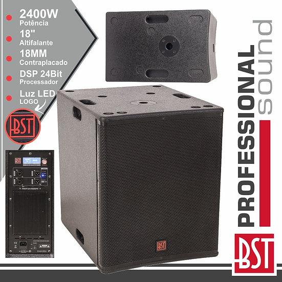 """Grave SubWoofer Amplificado Pro 18"""" 2400W Dsp BST"""