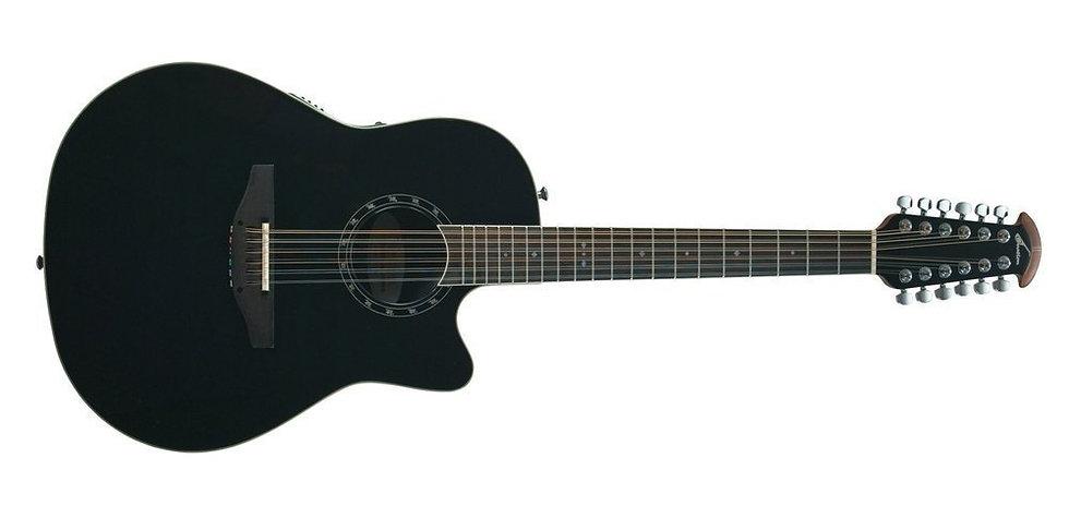 Guitarra Electro-Acústica Standard Balladeer Deep C Way 12-String  Ovation