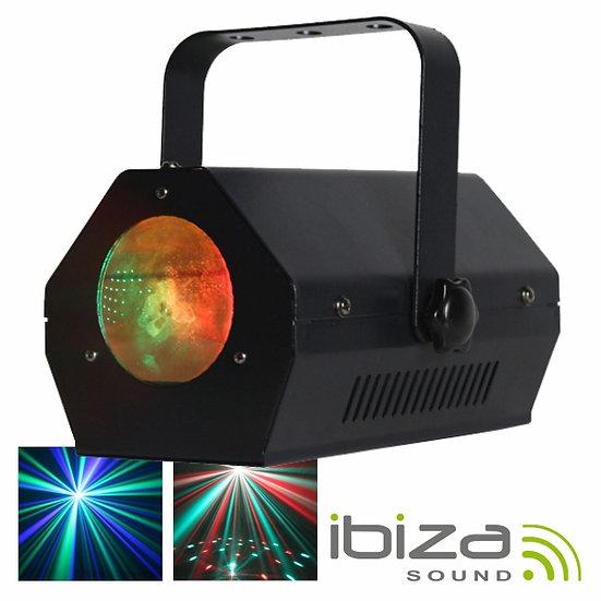 Projetor Luz C/ 5 LEDS 3W RGBAW Preto Mic IBIZA LCM004LED