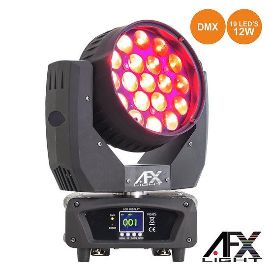 Moving Head 19 LEDS 12W RGBW Ptz DMX AFXLIGHT LEDWASH-1912Z