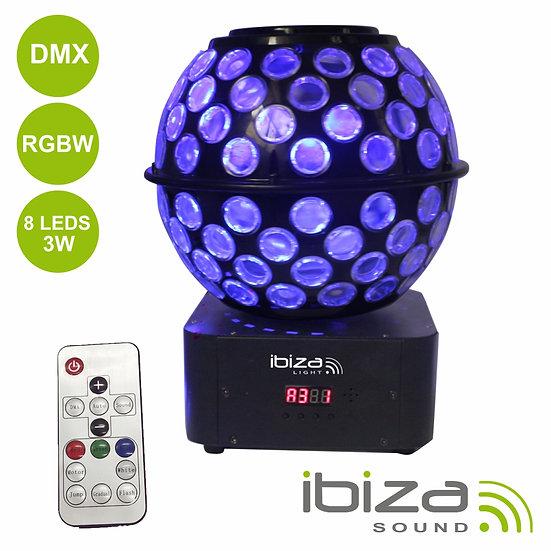 Projetor Luz C/ 8 LEDS 3W RGBW IBIZA STARBALL-GB
