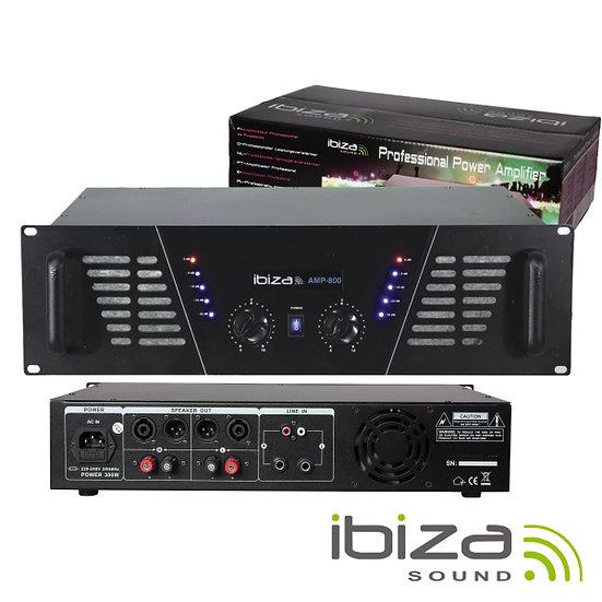 """Amplificador Áudio 19"""" 2x600W IBIZA  AMP800(I)"""