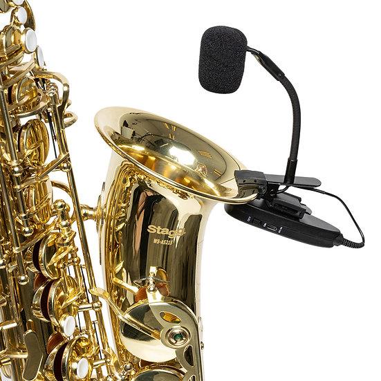 Conjunto De Microfones Para Saxofone Sem Fio (Com Transmissor E Receptor)