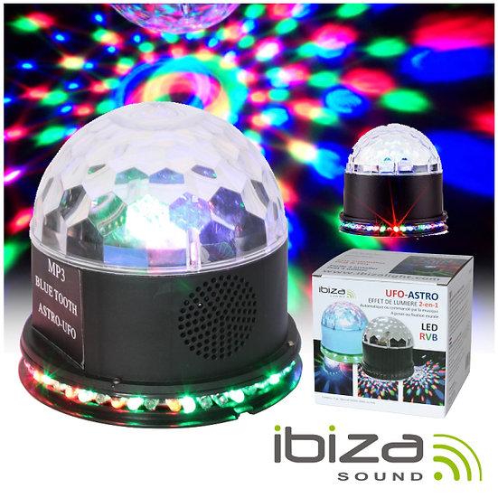 Projetor Luz C/ 81 LEDS 15W 2-Em-1 Preto IBIZA UFO-ASTRO-BL