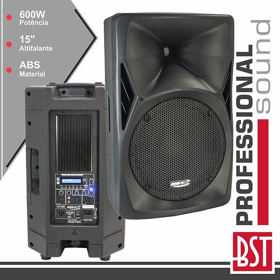 "Coluna Amplificada Pro 15"" 600W Mp3 USB/FM/SD/BT Abs BSTPH15-BT"