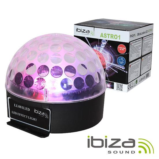 Projetor Luz C/ 3 LEDS RGB 3W Mic IBIZA LL081LED
