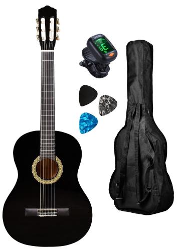 Pack Guitarra clássica GEMMA PC Standard BLK 4/4