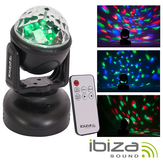 Moving Head 6 LED RGB 18W IBIZA LMH-ASTRO