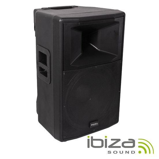 """Coluna Amplificada 18"""" 1000W USB/BT/SD/Bat Vhf Preta IBIZA RX18A-BT"""
