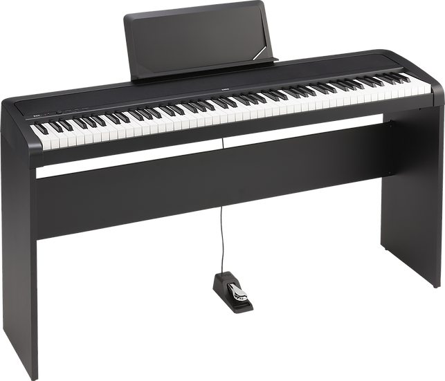 Piano Digital Korg B2N Com Colunas Com Suporte Opcional