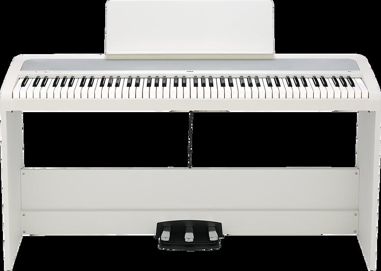Piano Digital Korg B2Sp-Wh Com Suporte E 3 Pedais
