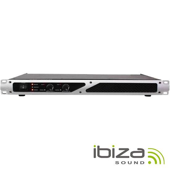 """Amplificador Áudio 19"""" 2x250W IBIZA  DIGI-AMP300"""