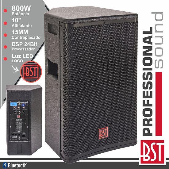 "Coluna Amplificada Pro 10"" 800W 4 Modos BT BST"