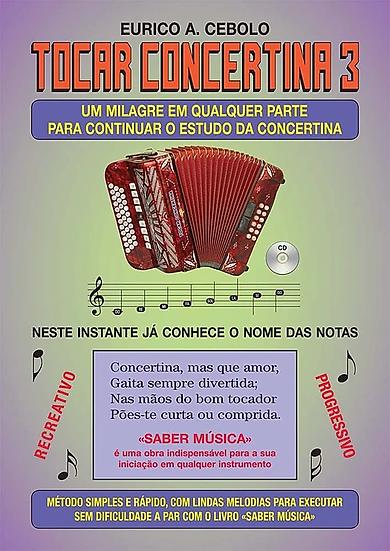 Livro Tocar Concertina 3 Com Cd